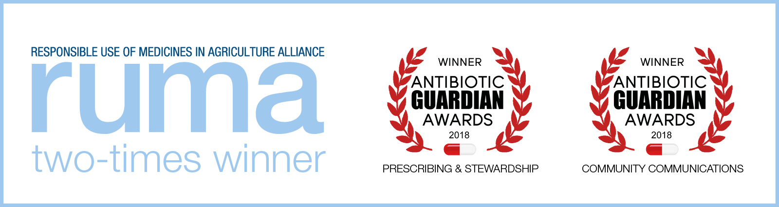 RUMA Antibiotic Guardian two-times Winner Banner